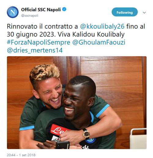 Koulibaly rinnova fino al 2023. Il messaggio del Napoli e l'idea di ADL