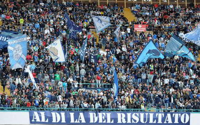 Meno di 30mila spettatori per Napoli-Parma