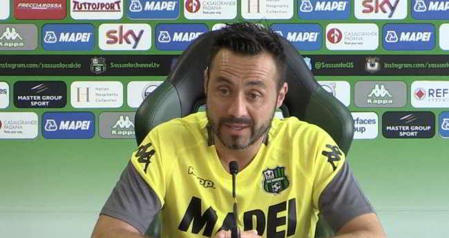 De Zerbi contro l'arbitro: «Diawara era da rosso Rogerio no»