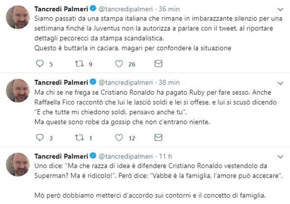 """Palmeri: """"Ronaldo pagò Raffaella Fico per fare sesso, la sua reazione fu inaspettata"""""""