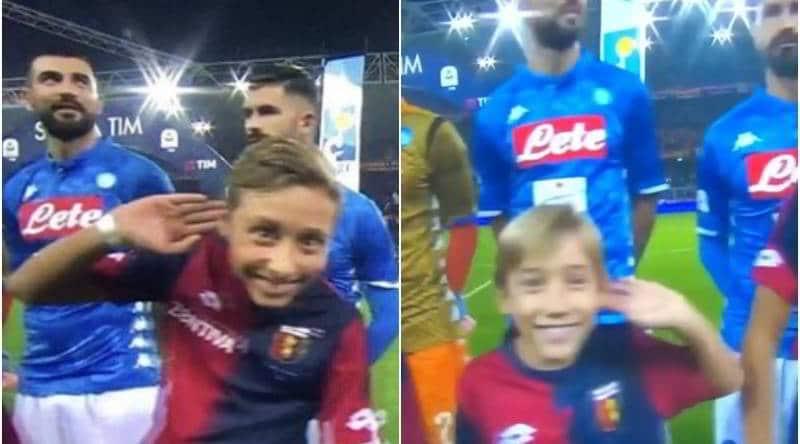 Bambini imitano il gesto di Mourinho in Genoa Napoli