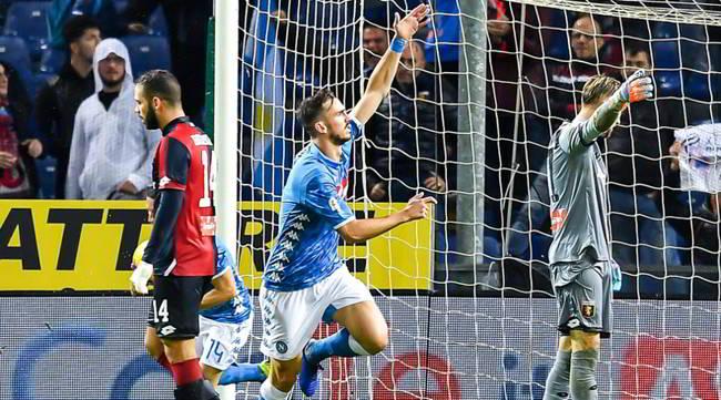 Genoa Napoli 1-2. Gli azzurri di Ancelotti vincono la gara più difficile della stagione