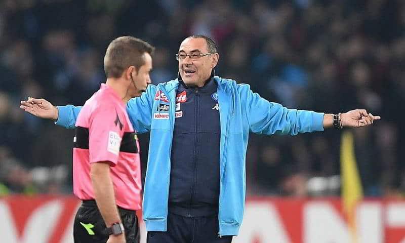 Il Napoli di Ancelotti. Nelle prime 10 giornate è stato penalizzato in 4 gare