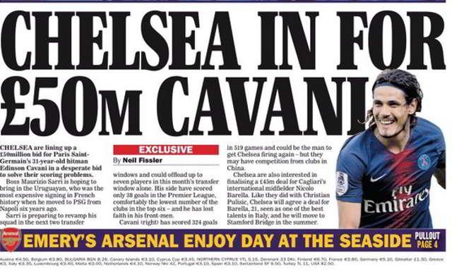 Il Chelsea su Cavani. Offerta da 50 milioni al PSG