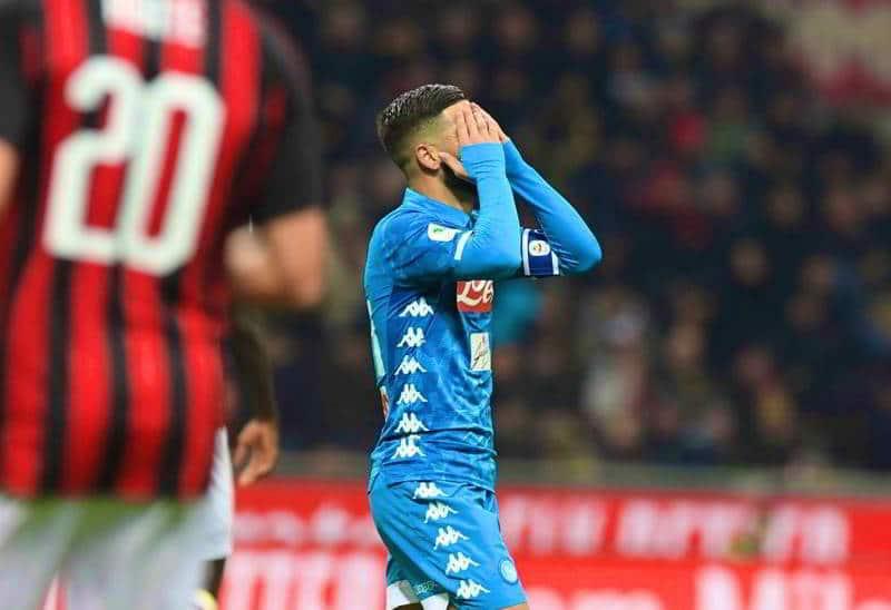 """Il Napoli fuori dalla coppa Italia. Il Frosinone: """"ora paghi la multa"""""""