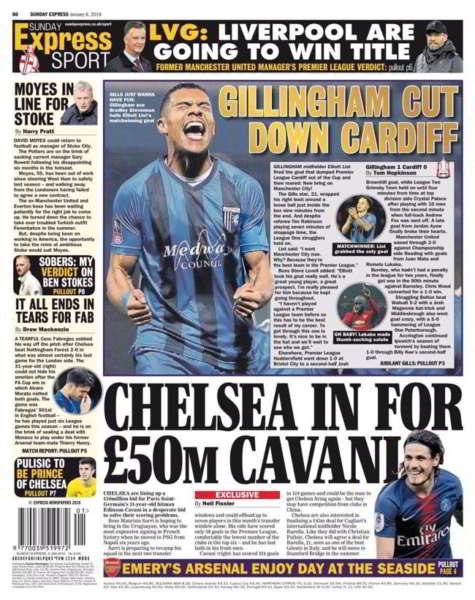 Il Chelsea su Cavani. La squadra di Maurizio Sarri offre 50 milioni di sterline al PSG per il Matador. Il Chesea vuole Cavani a gennaio.