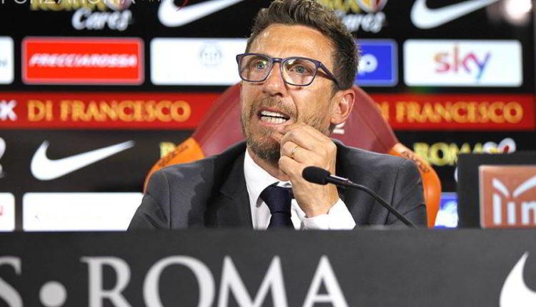 """Di Francesco: """"non ho sentito Vesuvio lavali col Fuoco durante Roma-Entella"""""""