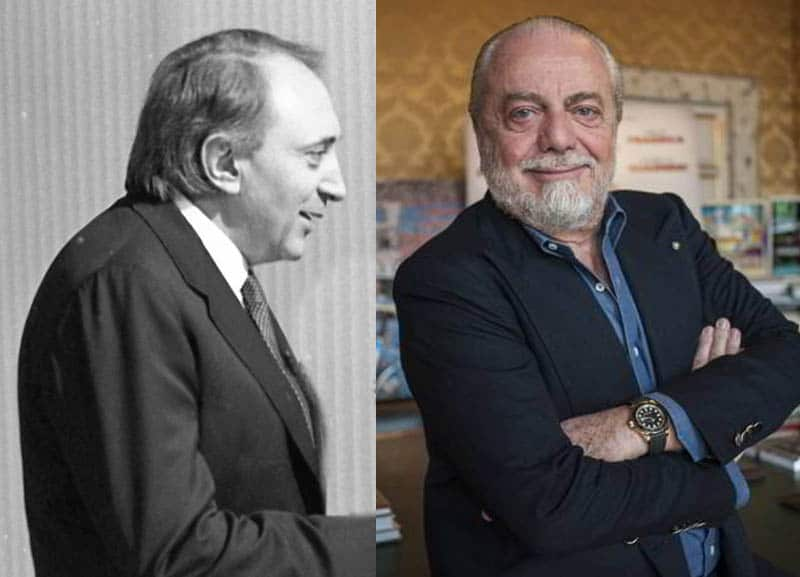 Per Enrico Fedele De Laurentiis spende se incassa, un presidente notaio. Mentre Ferlaino avrebbe preso Ronaldo come fece con Maradona.