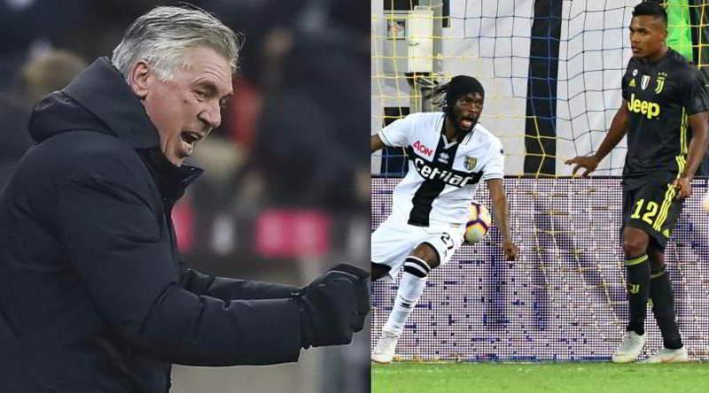 Ancelotti è esploso al pareggio del Parma. Delirio da stadio per il tecnico