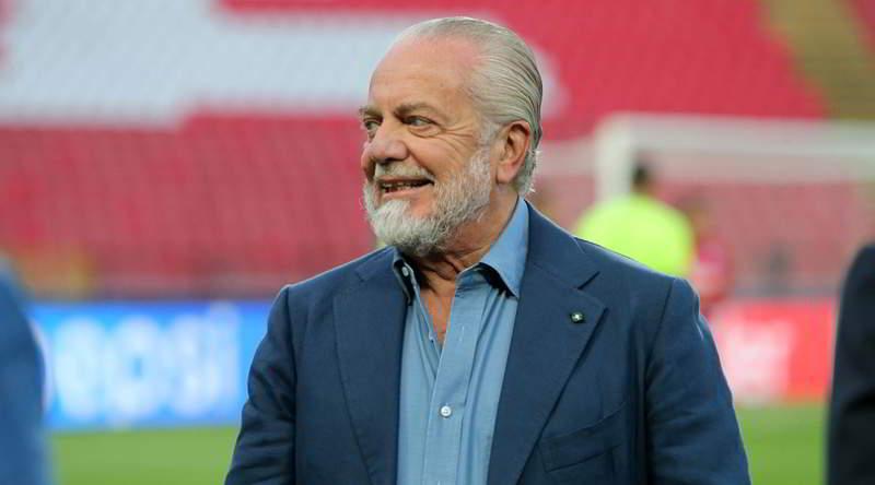 Zurigo-Napoli, De Laurentiis al seguito della squadra. Ha fatto una richiesta.