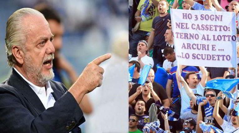 """De Laurentiis contro i tifosi del Napoli: """"Pensano solo allo scudetto..."""""""