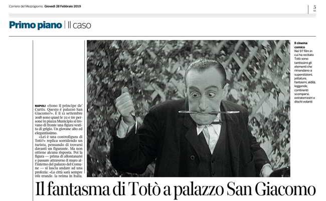 Il fantasma di Totò avvistato a Napoli. Le apparizioni e quella profezia...