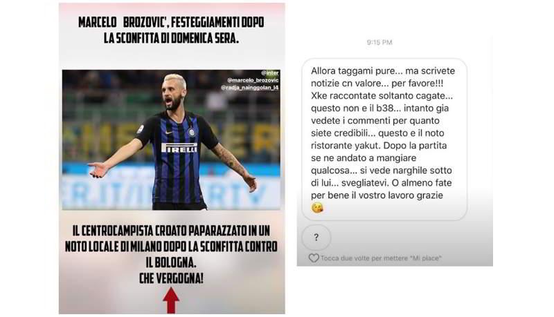 Inter, Nainggolan-Corona lite sui social, a causa di Brozovic