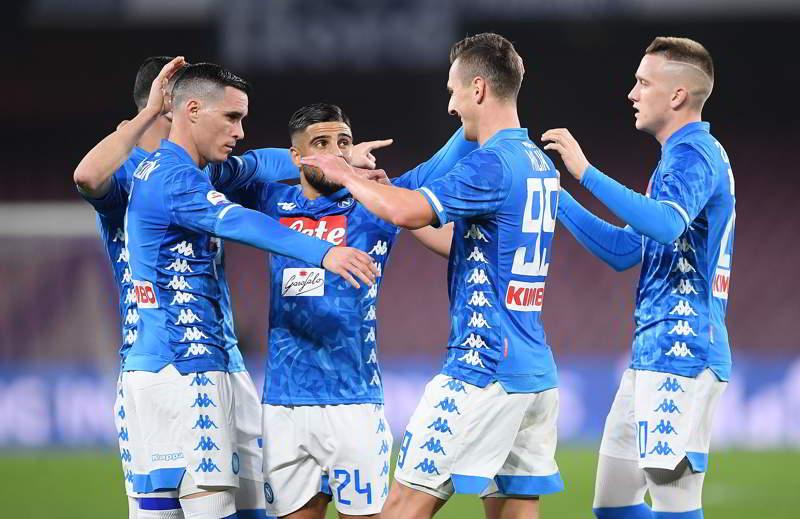 Napoli-Sampdoria 3-0. Gli azzurri devastanti al San Paolo