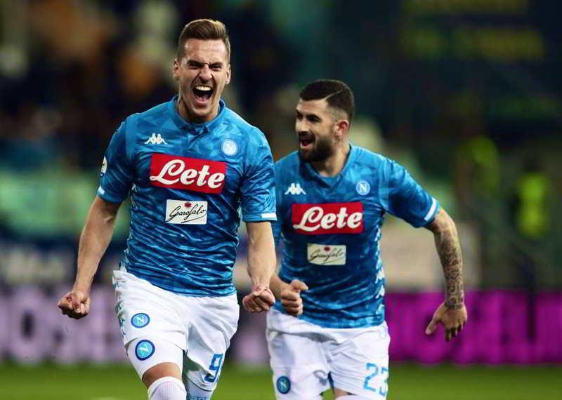 Parma-Napoli. Poker per gli azzurri. Al Tardini i soliti cori