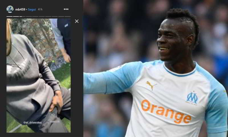 Balotelli con la maschera di Simeone prende in giro la Juventus