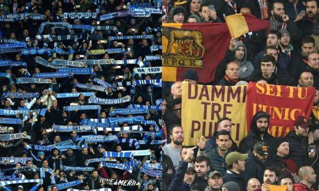 Roma-Napoli. Allerta alta, 300 tifosi del Napoli all'Olimpico