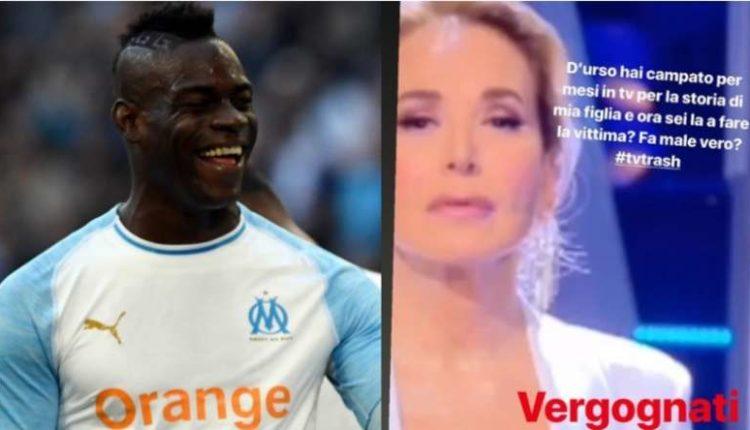 """Balotelli contro Barbara D'Urso: """"hai campato su mia figlia..."""""""
