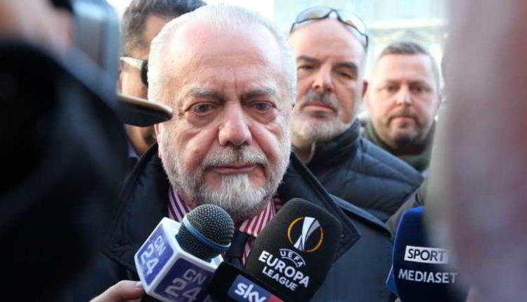 """De Laurentiis: """"Giuntoli ha rinnovato. Il Napoli può vincere senza indebitarsi"""""""