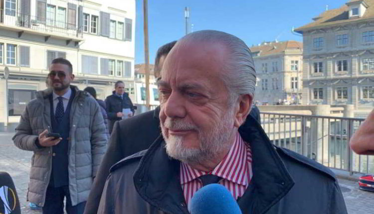 "De Laurentiis: ""lasciate in pace Insigne. Saliburgo-Napoli c'è fiducia..."""