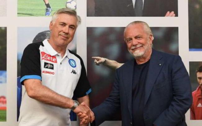 Napoli, incontro De Laurentiis-Ancelotti per il rinnovo. I diritti d'immagine e la promessa...