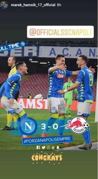 Hamsik, non dimentica Napoli. Messaggio per la vittoria contro il Salisburgo