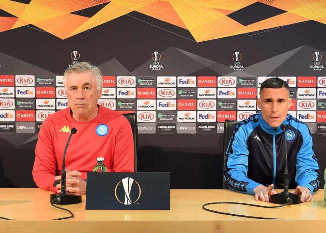 """Napoli-Arsenal. Ancelotti: """"Coraggio, intelligenza e cuore per la qualificazione"""""""