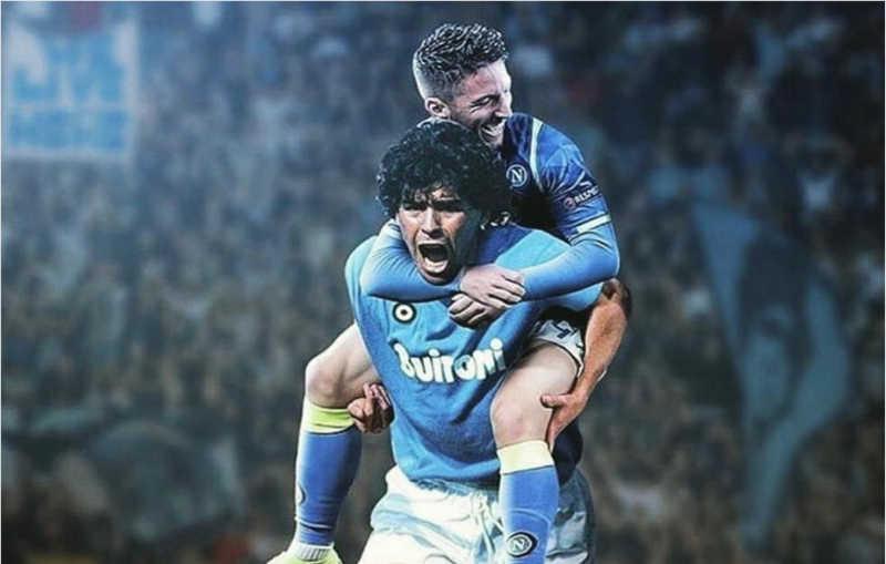 Napoli, Mertens raggiunge Maradona. Arriva il messaggio del Pibe