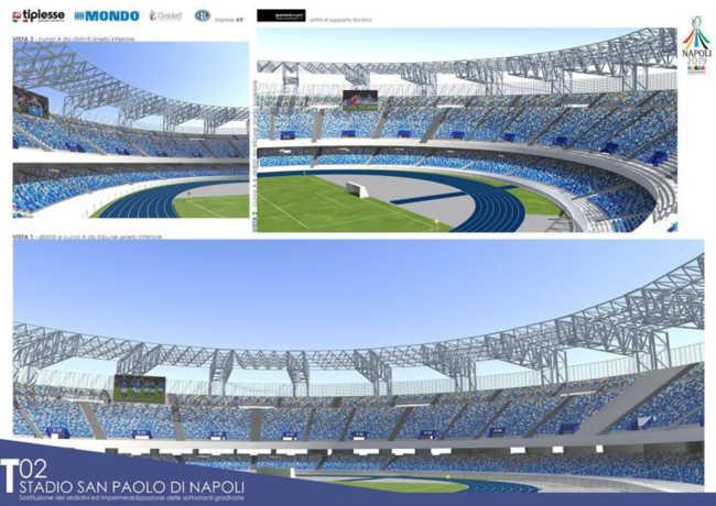 Nuovo San Paolo, presentato il progetto dell'impianto di Fuorigrotta.