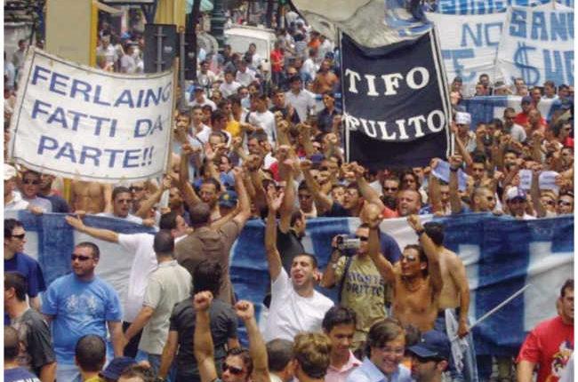 Contestazione a De Laurentiis. Da Ferlaino a Fiore la storia delle proteste