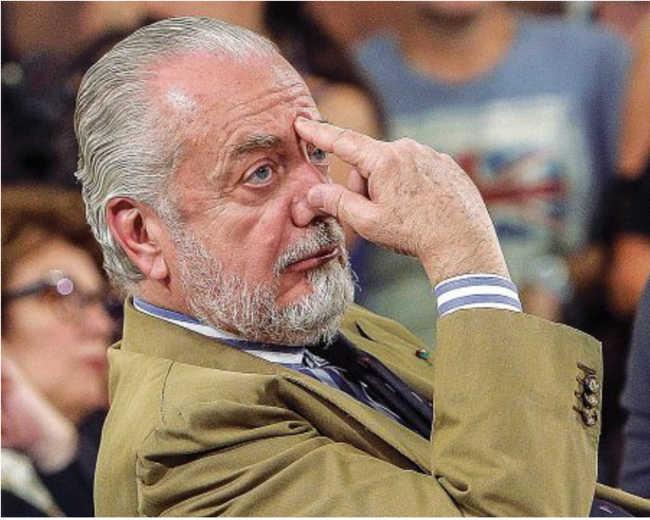 """De Laurentiis: """"Contento di Ancelotti. Noi tra le migliori squadre europee"""""""