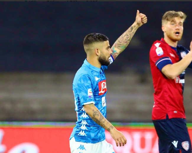 Napoli-Cagliari 2-1. Gli azzurri matematicamente secondi
