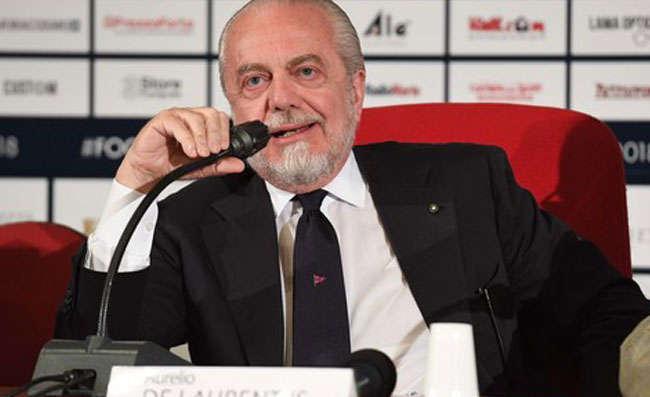 """De Laurentiis: """"Sarri alla Juve, dopo Higuain non mi stupirei"""""""