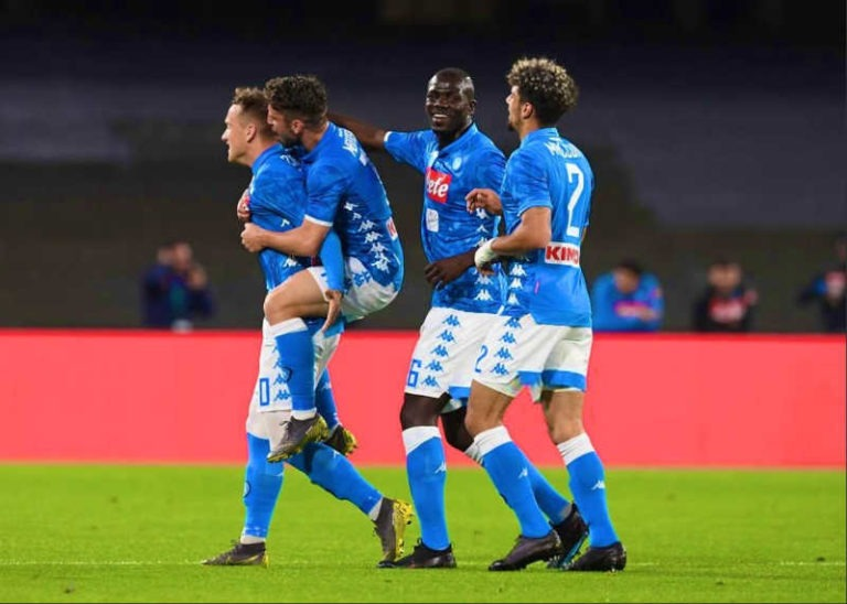 Napoli-Inter 4-1. Zielinsky, Mertens e Fabian devastano i nerazzurri