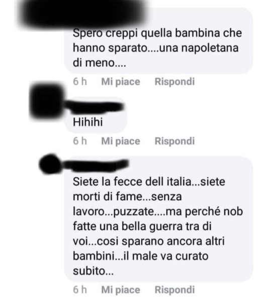 Noemi la bimba di Napoli ferita dalla camorra, offesa sui social