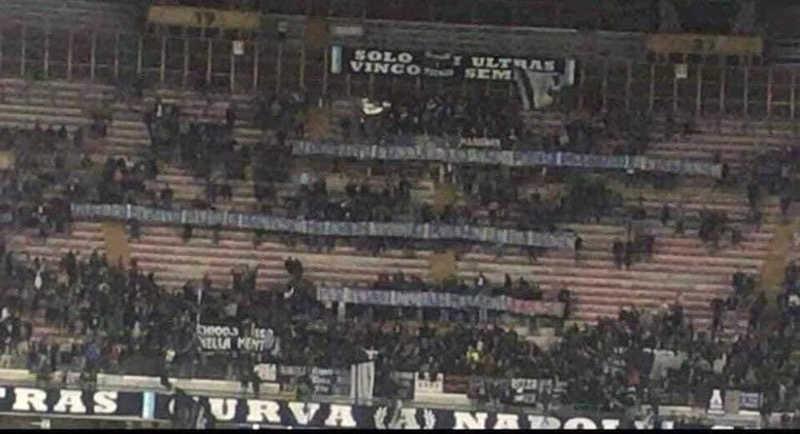 Striscione contro Belardinelli. 10mila Euro di multa al Napoli