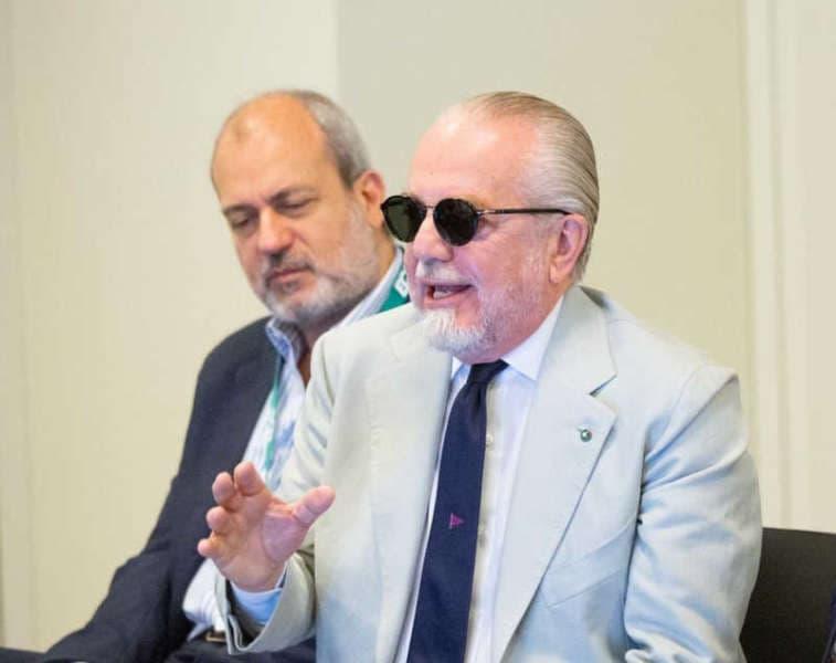 """Napoli, De Laurentiis: """"sul mercato giochiamo su più tavoli. Albiol e il San Paolo"""""""