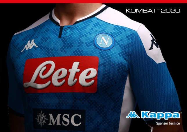 Ecco la nuova maglia del Napoli 2019/20 la Kappa Kombat 2020