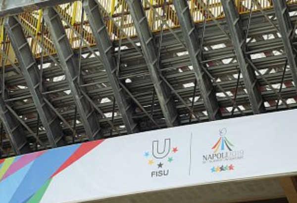 San Paolo, curva B senza sediolini per l'Universiade