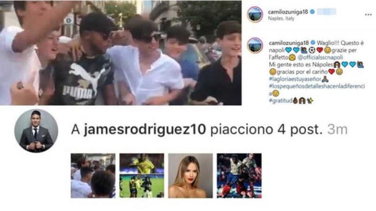 Zuniga torna a Napoli. Spunta il like di James Rodriguez