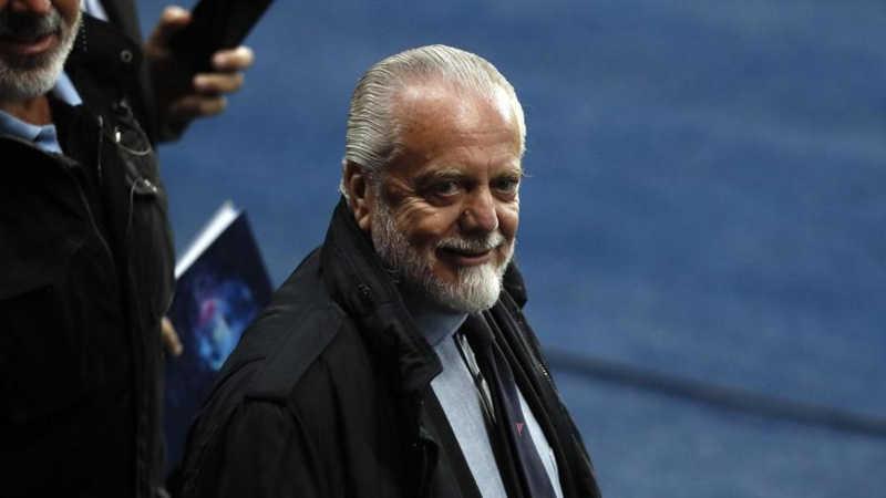 """De Laurentiis: """"Aspetto James. Icardi vuole la Juve. Rodrigo non verrà"""""""