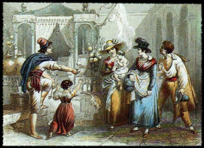 L'arte dei Gelati e sorbetti è nata a Napoli. Conquistò anche i Borbone