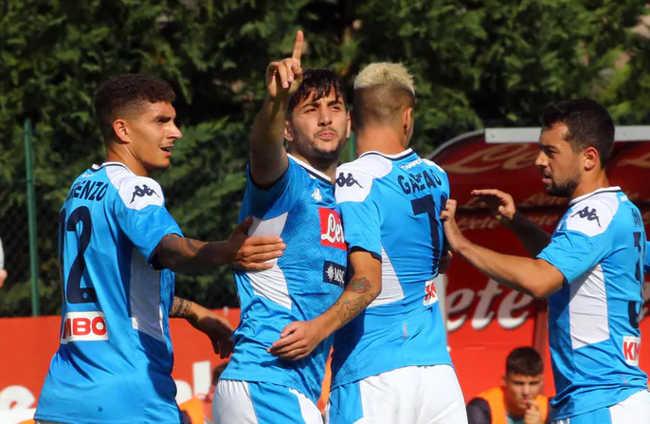 Napoli-Feralpisalò 5-0. Manolas e doppietta di Verdi