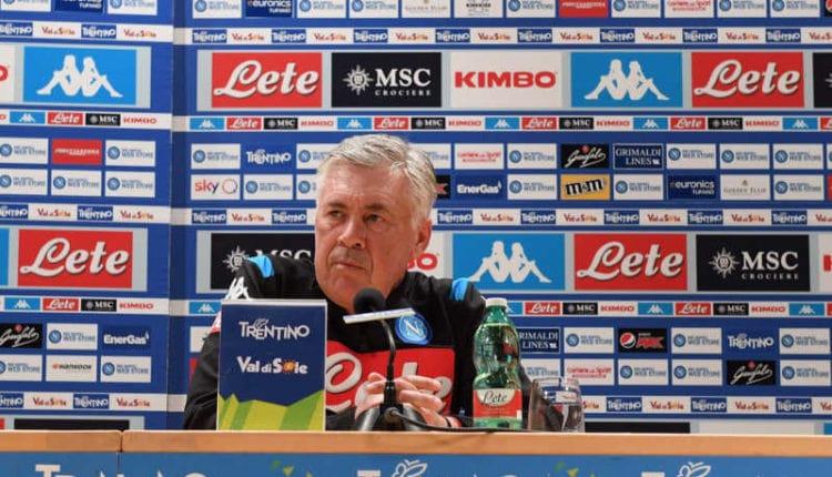 """Dimaro, Ancelotti in conferenza: """"James, icardi e il Napoli che sarà""""."""