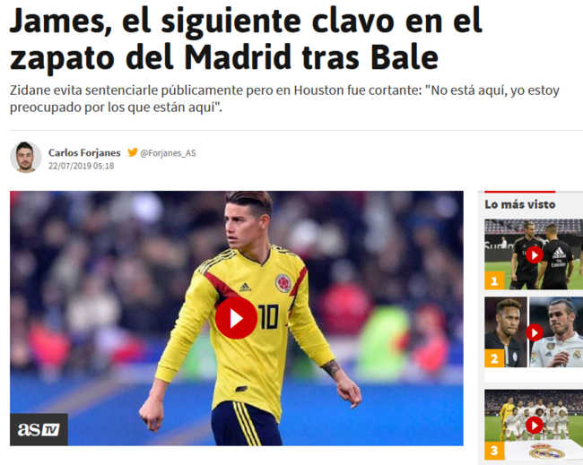 "Dalla Spagna: ""Napoli unica pretendente per James, l'Atletico ha dubbi..."""
