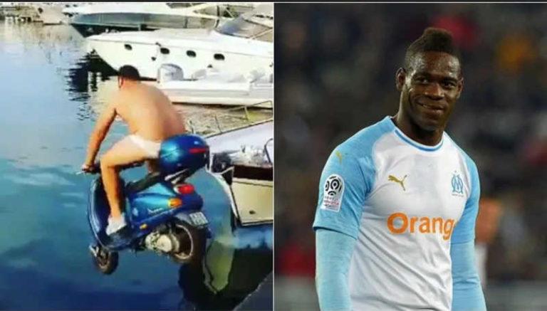 Tuffo in mare con il motorino, Balotelli scommette 2000 euro
