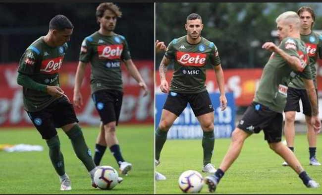 Dimaro, primo allenamento del Napoli. Ovazione dei Tifosi e pioggia