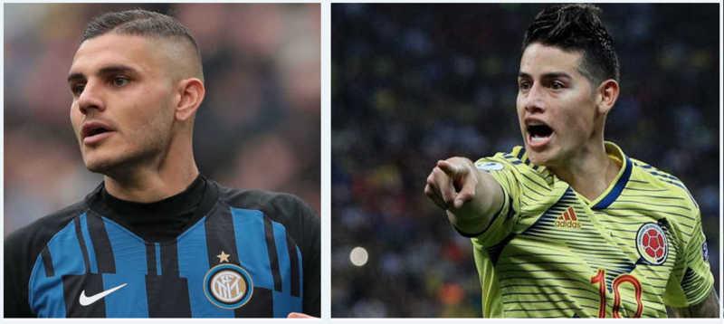 Il Napoli vuole la coppia James-Icardi. Ancelotti chiede acquisti top