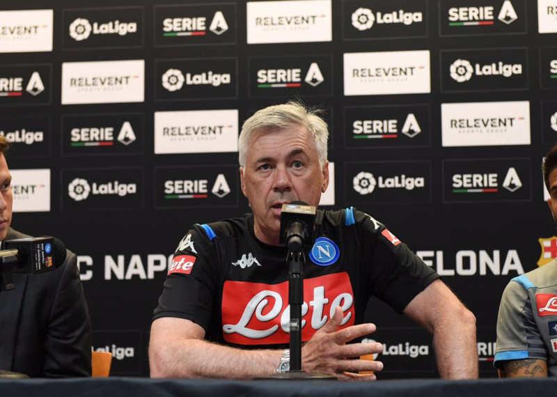 """Ancelotti: """"Il Napoli sarà pronto per il 24. Non fatemi parlare di James"""""""