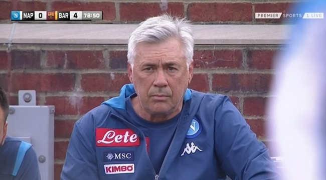 Barcellona - Napoli 4-0. Ancelotti Deluso, per Giuntoli la squadra è apposto